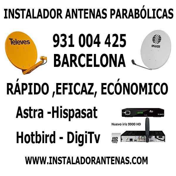 Antenas barcelona instalador antenas - Antenista en barcelona ...